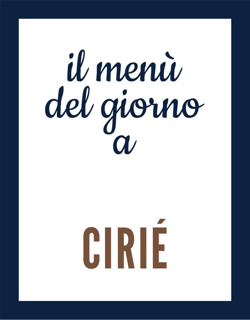 Menu del giorno a Cirié